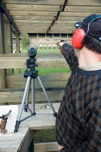 Olympic Style Target Shooting, Ruslan Dyatlov at the Shooting range, FREE Pistol TOZ-35M