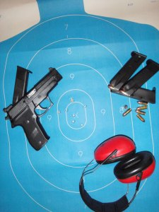 It Is My Third PPC (Police Pistol Combat) Practice Today. (5o feet double action, standing position with no support)