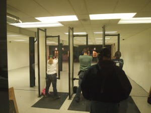 50 Feet Double Action, 6 Shots Standing. Police Pistol Combat match at  Fenton Lakes Sportsmans Club, March 15, 2013