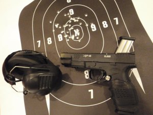 PPC Practice with Russ. Unleash Your Real Competitive Potential./ Springfield XDM9 (Extreme Duty), the XDM-9 chambered for the 9x19 mm cartridge.