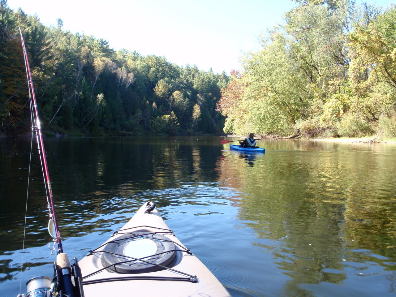 Muskegon river kayak fishing midwest academy consulting for River fishing kayak