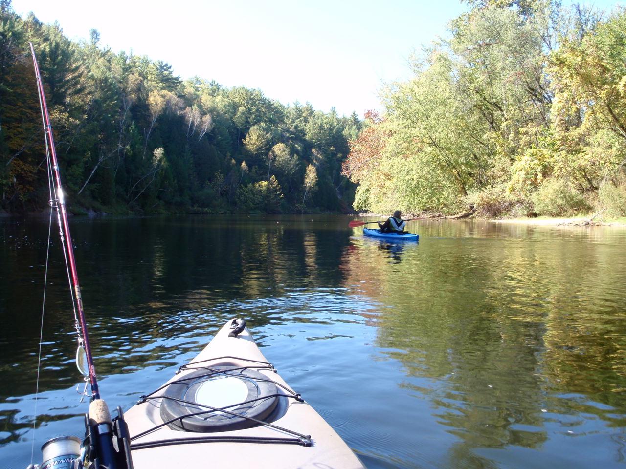 Muskegon river kayak fishing midwest academy consulting for Muskegon river fishing