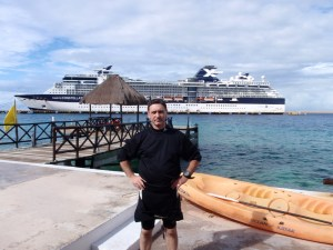 El Cid Hotel. Babieca Dive Shop. Cozumel. Mexico.. My first Caribbean Sea SCUBA Diving experience. December 2013