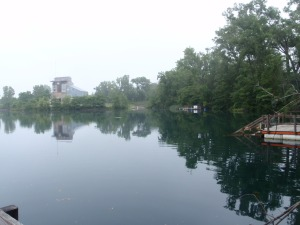 Scuba diving at Gilboa Quarry OH 06.28.14
