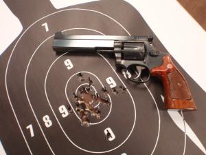 Last PPC practice with my S&W Custom PPC 38 Special revolver. 02/19/15