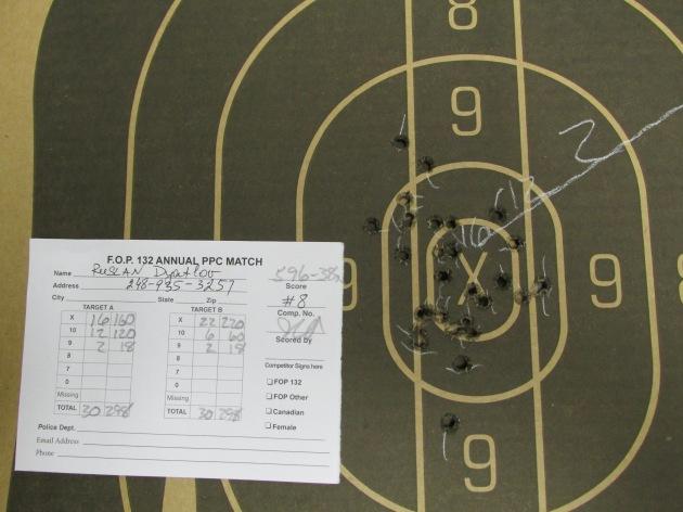 PPC Match, Fenton Michigan. Service pistol. Ruslan Dyatlov : 596 (38X) 298+298